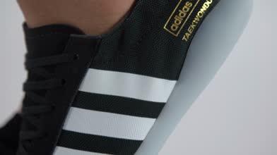 adidas black & white taekwondo team trainers
