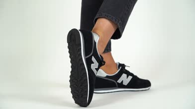 New balance black & silver 373 v2 trainers