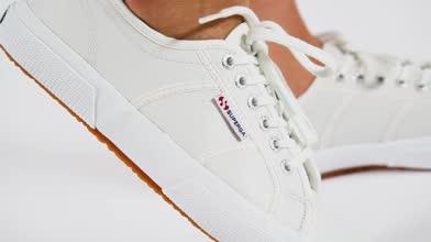 Womens White Superga 2750 Leather